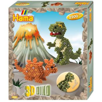 HAMA MIDI 3250 Dinozaury 3D 2500 koralików