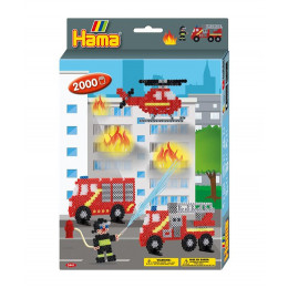 Koraliki Hama Midi - Straż pożarna - 2 tys. 3441