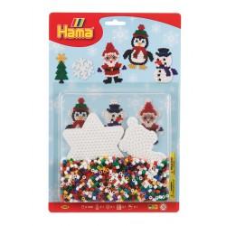 HAMA MIDI 4202 Zestaw koralików - Mikołaj, bałwanek i pingwin