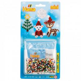 HAMA MINI 5514 – Układanka z koralików 2000 sztuk – Mały blister świąteczny