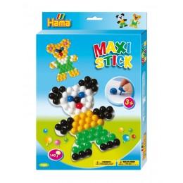 Hama Maxi Stick - Układanka z pinezek 140 el. - Misie 9668