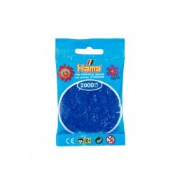 Koraliki Hama MINI 2000 Koralików 501-36 Kolor Niebieski Neonowy Transparentny