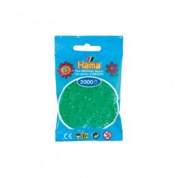 Koraliki Hama MINI 2000 Koralików 501-37 Kolor Zielony Neonowy Transparentny