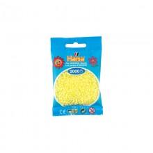 Koraliki Hama MINI 2000 Koralików 501-43 Żółty Pastelowy