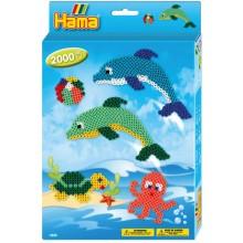 Koraliki Hama 3435 MIDI 2000 Koralików Delfiny