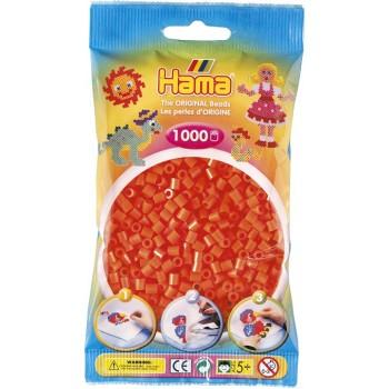 Koraliki Hama MIDI 1000 Koralików 207-04 Kolor Pomarańczowy