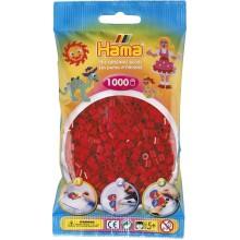 Koraliki Hama MIDI 1000 Koralików 207-22 Kolor Ciemny Czerwony