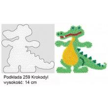 Koraliki Hama Midi Podkładka 259 Krokodyl