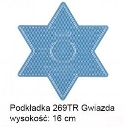 Koraliki Hama Midi Podkładka 269TR Gwiazda transparentna