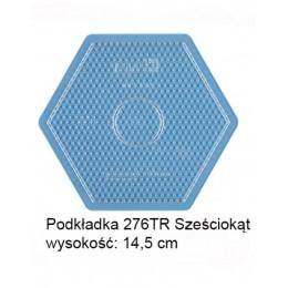 Koraliki Hama Midi Podkładka 276TR Sześciokąt Transparentny
