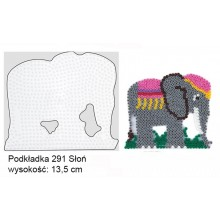 Koraliki Hama Midi Podkładka 291 Słoń