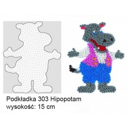 Koraliki Hama Midi Podkładka 303 Hipopotam