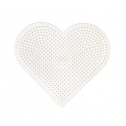 Koraliki Hama Mini - Podkładka małe serce - 591