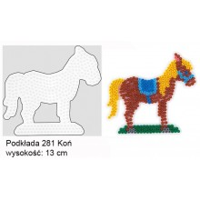 Koraliki Hama Midi Podkładka 281 Koń