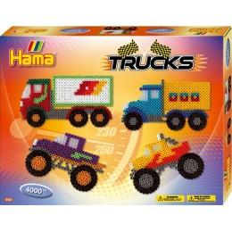 Koraliki HAMA MIDI 3132 Zestaw Ciężarówki - 4000 szt.
