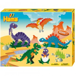 Koraliki HAMA MIDI 3144 Zestaw Dinozaury 4.000 szt.