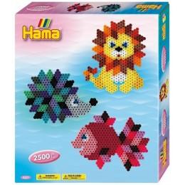 Koraliki HAMA 3237 MIDI 2500 Zestaw Kolorowe Zwierzaki