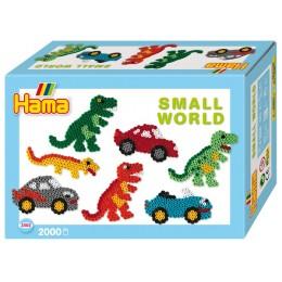 Koraliki Hama 3502 MIDI 2000 Zestaw Dinozaury i Samochody