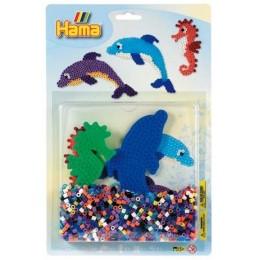 Koraliki HAMA 4058 MIDI 1100 Blister Delfiny i Konik Morski