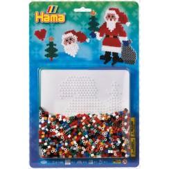 4098 Koraliki HAMA MIDI Zestaw Święty Mikołaj