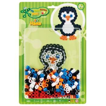 HAMA MAXI 8938 Zestaw koralików w blistrze – Pingwin