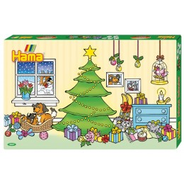 3037 Koraliki HAMA MIDI - Kalendarz Adwentowy - Boże Narodzenie
