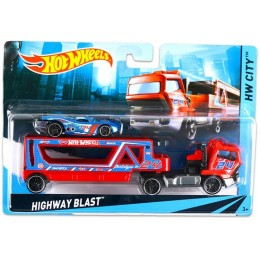 Hot Wheels CGC17 Autko i Ciężarówka HIGHWAY BLAST