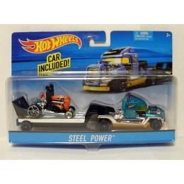 Hot Wheels CGC18 Autko i Ciężarówka STEEL POWER