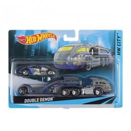 Hot Wheels CGC19 Autko i Ciężarówka Double Demon