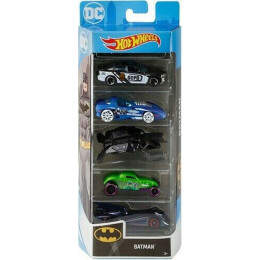 Hot Wheels - Zestaw pięciu samochodów - Batman - 1806 GHP54