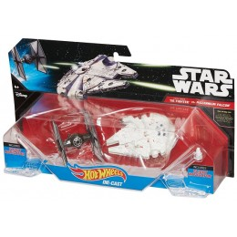 Hot Wheels Star Wars CGW95 - Kosmiczny Dwupak: Tie Fighter vs Millenium Falcon