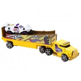 Hot Wheels - Ciężarówka Rumble Road z wyścigówką - BDW56