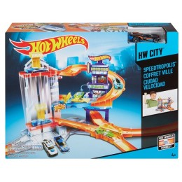 Hot Wheels CDL36 Wyścigowe Miasto - Parking z Windą