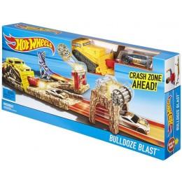 Hot Wheels DJF04 Uderzenie Buldożera