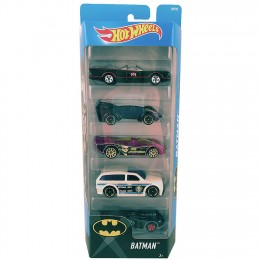 Hot Wheels DVF92 Pięciopak samochodzików - Batman
