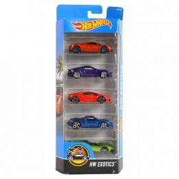 Hot Wheels DVF95 Pięciopak samochodzików - Exotics
