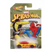 Hot Wheels - Spider Man - Samochodzik Golden Arrow DWD19