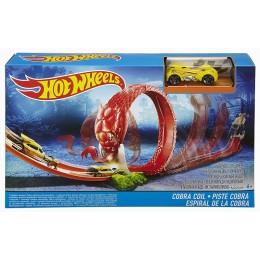 Hot Wheels DWK95 Zestaw torów + samochodzik Atak kobry