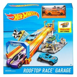 Hot Wheels FCF21 Garaż z torem na dachu