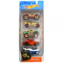 Hot Wheels - Pięciopak samochodzików - Jungle Rally FKT54