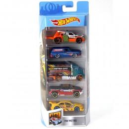 Hot Wheels - Pięciopak samochodzików - Metro FKT56