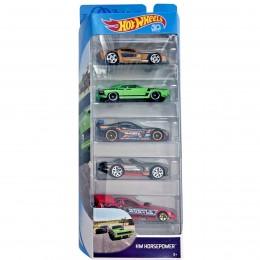 Hot Wheels - Pięciopak samochodzików - Horsepower FKT57