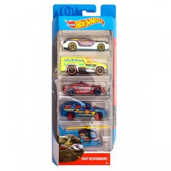 Hot Wheels - Pięciopak samochodzików - Fast Responders FKT58
