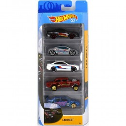 Hot Wheels - Pięciopak samochodzików - Car Meet FKT59