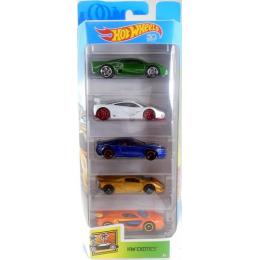Hot Wheels - Pięciopak samochodzików - Exotics FKT62