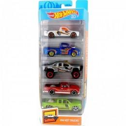 Hot Wheels - Pięciopak samochodzików - Hot Trucks FKT63