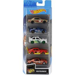 Hot Wheels - Pięciopak samochodzików – Nightburnerz - FYL12