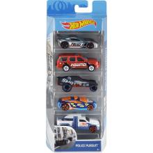 Hot Wheels - Pięciopak samochodzików – Police Pursuit - FYL15