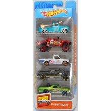 Hot Wheels - Pięciopak samochodzików – Hot Trucks FYL18