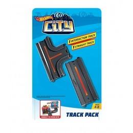 Hot Wheels City - Zestaw akcesoriów - Skrzyżowanie i tor prosty FXM38 GBK38